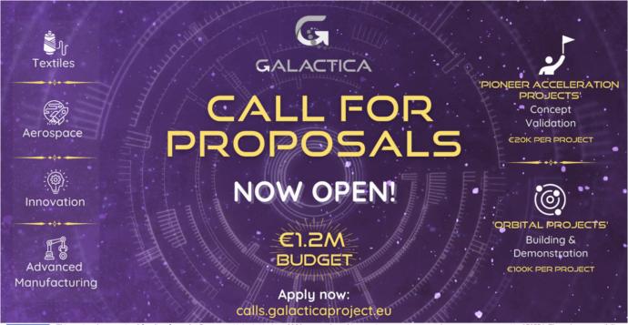 Al via il bando del progetto GALACTICA destinato alla digitalizzazione di startup e PMI attive nei settori tessile ed aerospaziale